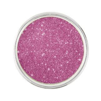 Hot Pink Glitter Sparkles Lapel Pin
