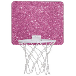 Hot Pink Glitter Sparkles Mini Basketball Hoop