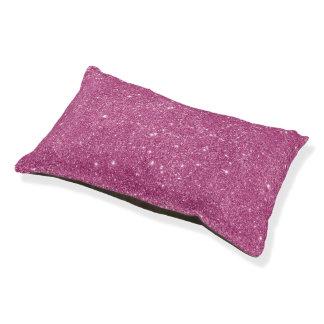 Hot Pink Glitter Sparkles Pet Bed