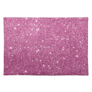 Hot Pink Glitter Sparkles Placemat