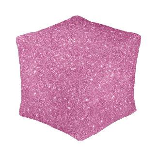Hot Pink Glitter Sparkles Pouf