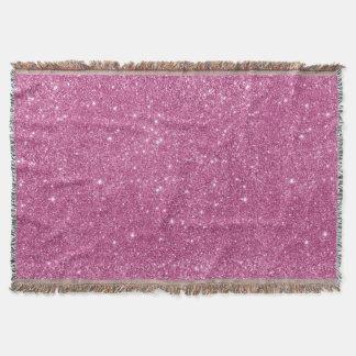 Hot Pink Glitter Sparkles Throw Blanket