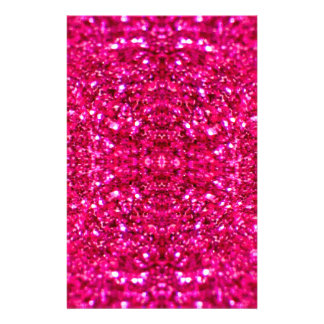 hot pink glitter stationery