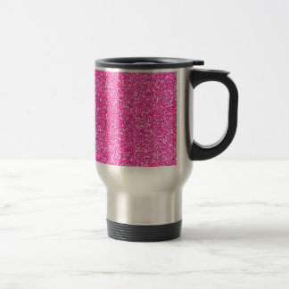 Hot Pink Glitter Travel Mug