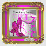 Hot Pink Gold High Heel Shoes Champagne