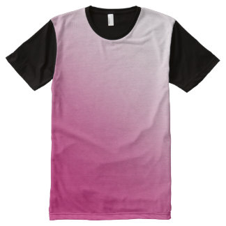 Hot Pink Gradient All-Over Print T-Shirt