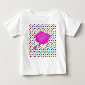 Hot Pink Graduation Cap and Diploma, Colorful Cap Baby T-Shirt