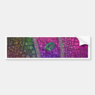 Hot Pink Green Lips Abstract Bumper Sticker
