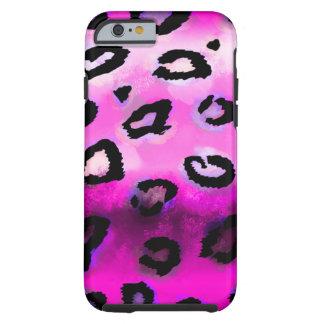 Hot Pink Grunge Leopard Tough iPhone 6 Case