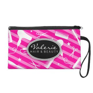 Hot Pink Hair Salon Tools Wristlet Purse