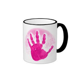 Hot Pink Hand Mug