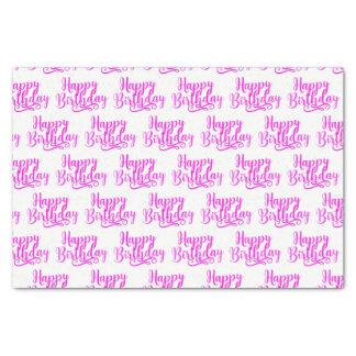 Hot Pink HAPPY BIRTHDAY Custom Party Tissue Paper