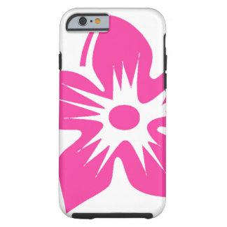 Hot Pink Hawaiian Flower Tough iPhone 6 Case