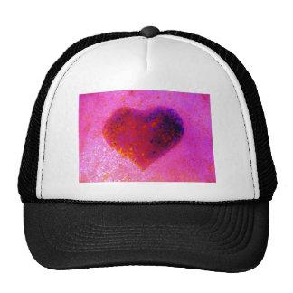 Hot  pink heart hats