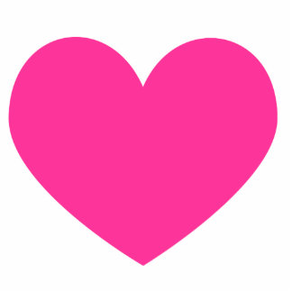 Hot Pink Heart Magnet Photo Sculpture Magnet