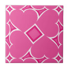Hot pink hearts tile pattern