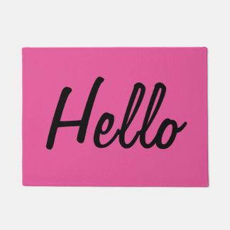 Hot Pink - Hello Doormat