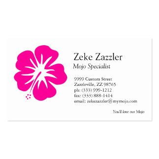 Hot Pink Hibiscus Business Card Templates