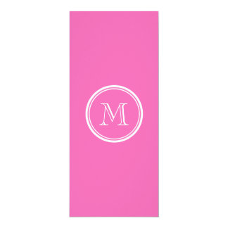 Hot Pink High End Colored Personalized 10 Cm X 24 Cm Invitation Card