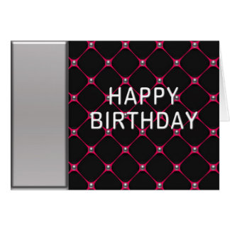 Hot Pink Honeycomb Birthday Cards