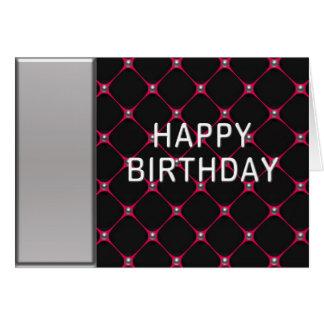 Hot Pink Honeycomb Birthday Card