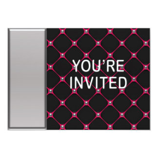 "Hot Pink Honeycomb Invitation 5"" X 7"" Invitation Card"