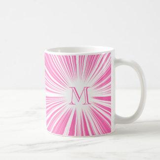 Hot Pink Hyperspace Monogram Mug