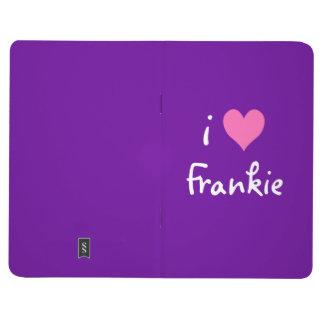 Hot Pink I Love Frankie Purple Journals