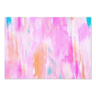 Hot Pink Ikat Watercolor Design Card