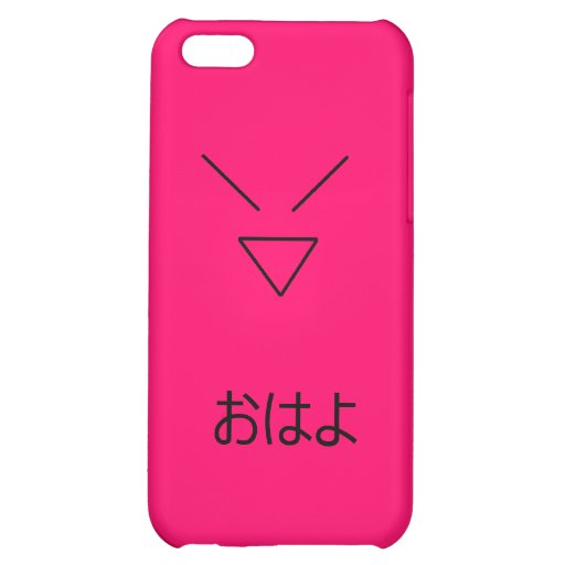 Hot Pink Japanese Hello! iPhone 5C Cases