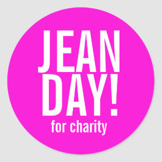 Hot Pink Jean Day Stickers