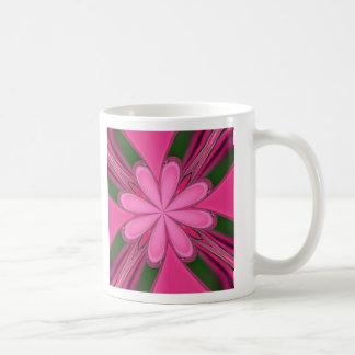 Hot Pink Kaleidoscope Basic White Mug