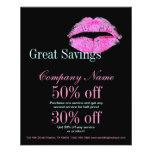 hot pink kiss Makeup Artist Business Full Color Flyer