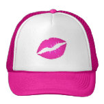 Hot Pink Kiss Trucker Hat