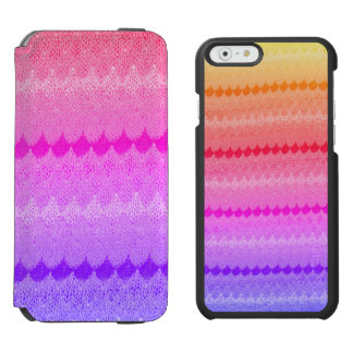 Hot Pink Knit Crochet Wool Incipio Watson™ iPhone 6 Wallet Case