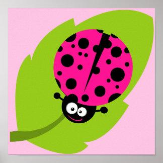 Hot Pink Ladybug Print