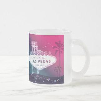 Hot Pink Las Vegas Wedding Keepsake Frosted Glass Coffee Mug