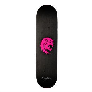 Hot Pink Leo Lion Zodiac Sign Skate Board