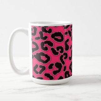 Hot Pink Leopard Animal Print Mugs