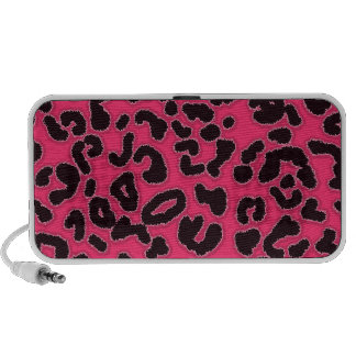Hot Pink Leopard Animal Print iPhone Speakers