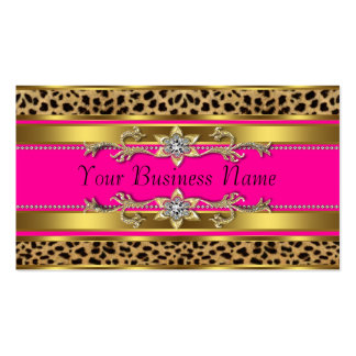 Hot Pink Leopard Business Cards Pack Of Standard Business Cards