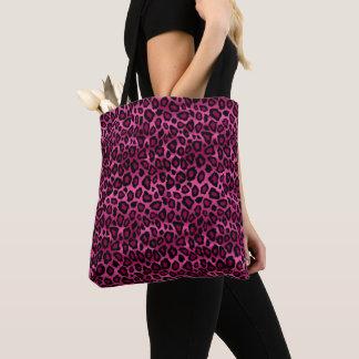 Hot Pink Leopard Pattern Tote Bag
