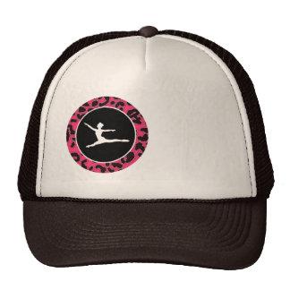 Hot Pink Leopard Print; Ballet Dancer Trucker Hats