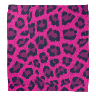 Hot Pink Leopard Print Bandanna