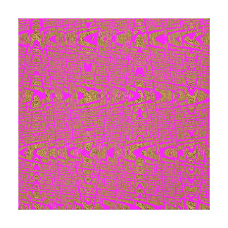 Hot Pink Leopard Print Modern Abstract Wave Gallery Wrap Canvas