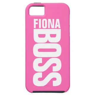 Hot Pink Manager's Personalized Name iPhone5 Case