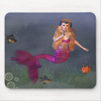 Hot Pink Mermaid Mousepad