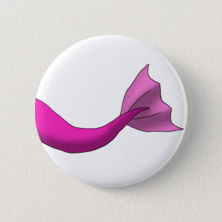 Hot Pink Mermaid Tail 6 Cm Round Badge