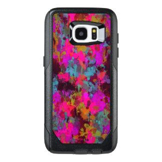 Hot Pink Messy Paint Splatter Samsung Galaxy S7
