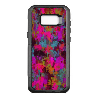 Hot Pink Messy Paint Splatter Samsung Galaxy S8 OtterBox Commuter Samsung Galaxy S8+ Case